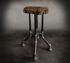 Fallen Industry | Reclaimed wood furniture | NYC | {Cross Plunge Bar Stool}