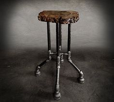 Fallen Industry | Reclaimed wood furniture | NYC | {Cross Plunge Bar Stool}