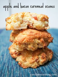 Apple and bacon cornmeal scones - moist and delicious with a wonderful sweet-savory taste