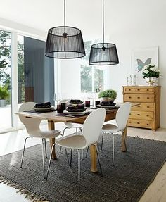 Love the dinning room and the lamps. Sweet Home, Basement Inspiration, Interior Decorating, Interior Design, Dining Room Lighting, Home Decor Furniture, Home Fashion, Chair Design, Chandeliers
