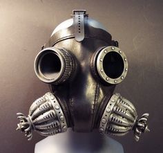 Defender gas mask in black Steampunk ~ Tom Banwell Designs *** Leather Masks & Steampunk