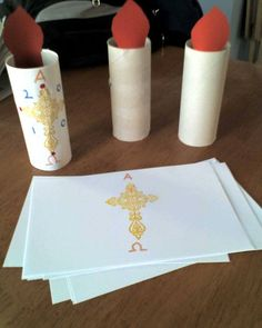 Make an EASTER paschal candle to take home!
