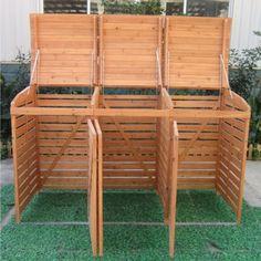 Backyard Garden Design, Backyard Landscaping, Outdoor Projects, Garden Projects, Bin Store Garden, Hide Trash Cans, Bin Shed, Outside Storage, Outdoor Living