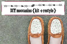 how to make moccasins from a kit  (I don't think a kit is really necessary if you're not a beginner)