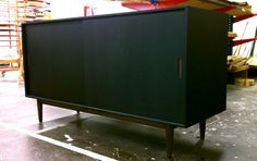 Rum Cabinet - Made from black Valchromat and solid Valnut