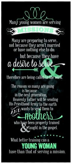 Sister Missionaries :) Gordon B Hinckley LDS For those who question the righteousness of my desires in wanting to serve a mission