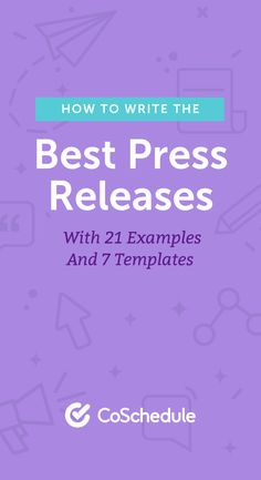 How to Write Press Releases With 21 Examples and 7 Templates Press Release Template, Writing A Press Release, Book Press, Everyone Makes Mistakes, Content Marketing Strategy, Marketing Plan, Blog Topics, Public Relations, Big Data