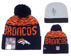 Men's / Women's Denver Broncos New Era NFL 2016 On-Field Sports Knit Pom Pom Beanie Hat - Orange / Navy