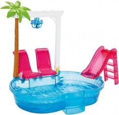 Swimming Pool Barbie Doll Slide Glam Set Playset Pink Beach Summer Brand New Toy | eBay
