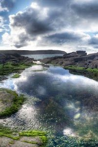 Rock Pool - Little Haven Pembrokeshire Wales UK    9 images shot over 3 brackets, using my Cannon Powershot G12    HDR photography