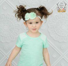 Posh Mint & Silver Glitter Baby Headband  New by TheRogueBaby