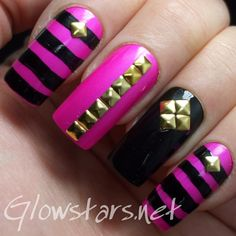 You will fly with this enchanting rhythm: A manicure using China Glaze Purple Panic, Nina Pro Black and a Striping Pen