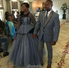 Ideas of Shweshwe Styling with Modern Outfits - Reny styles African Wedding Attire, African Attire, African Wear, African Women, African Dress, African Style, Xhosa Attire, African Weddings, African Traditional Wedding Dress