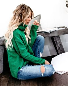 e05f3fed6fd21c 7 Best Green Sweater Outfit images in 2014   Casual outfits, Cute ...