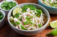 Chicken Pho! 30-minutes EASY shortcut version of traditional Vietnamese noodle soup. #GlutenFree #Chicken #ChickenSoup #pho #VietnameseFood #Soup #EasyDinner