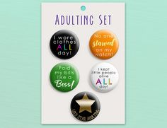 Gift for Mom Adulting is Hard Pin Mommin aint Easy Adult