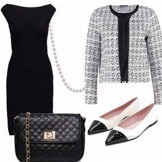 Il tubino nero, la giacca in tweed, la tracolla trapuntata, le ballerine bicolor e il filo di perle: tutti capi ispirati all'intramontabile stile Chanel ma rigorosamente low cost!