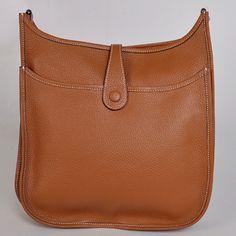 Hermes Evelyne Messenger Bag Light Tan Deatils 4