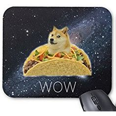 Mouse Pad Funny Dog In Taco