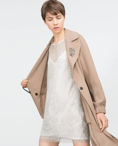 FLOWING TRENCH COAT-View all-Outerwear-WOMAN | ZARA Malaysia
