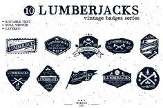 LumberJack badge (EDITABLE TEXT) by inumoccatype on @creativemarket