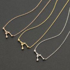 Namensketten - Krebs Konstellation Halsketten Geburtstags Gold - ein Designerstück von menatreasure bei DaWanda