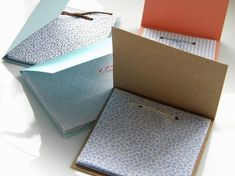homework: creative inspiration for home and life: Inkling: scratch paper booklets Diy Notebook, Handmade Notebook, Handmade Books, Do It Yourself Inspiration, Creative Inspiration, Diy Booklet, Diy Paper, Paper Crafts, Recycle Paper