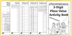* NEW * Back to School Place Value Revision 3 Digit Numbers Activity Booklet