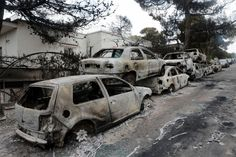 The total number of deaths in destructive fires in eastern Attica rose to as Red Cross rescuers discovered 26 bodies burned Tuesday morning near Argyri Akti beach in Mati. Local government officials confirmed the Red Destruction, Death, Vehicles, Car, News, Log Projects, Greece, Automobile, Rolling Stock