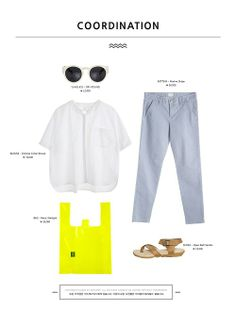 White Tshirt Outfit, Neon Bag, Chinese Collar, Collar Blouse, All About Fashion, Daily Fashion, I Dress, Style Guides, Fashion Outfits