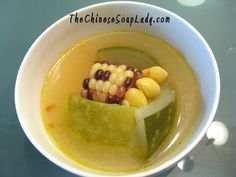 Chicken Soup with Baby Wintermelon and Corn | The Chinese Soup Lady & Chinese Soup Recipes