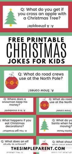 Celebrate the holidays with Christmas jokes for kids that will have the whole family laughing! Our favorite jokes and riddles are funny, silly, and clean! Humor is one of the best ways to have a Merry Christmas! Print out this free printable for a fun activity and conversation on Christmas Eve, Christmas morning, or before Christmas Dinner to keep kids entertained #freeprintable #Christmas #holidays
