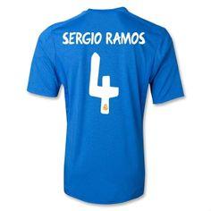 eb3c34cc2 2013-2014 Real Madrid Adidas Away Football Shirt 4 Sergio Ramos http
