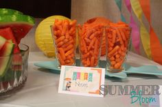 Check out this adorable Frozen In Summer Themed Birthday Party by SummerBloom! Perfect for any little girl in love with all things Olaf and Frozen!