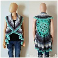 Dreamcatcher Mandala Circular Vest. Lion Brand Mandala Yarn. Crochet. This pattern is available for FREE on my website.