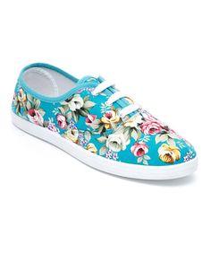 Loving this Blue Rose Sneaker on #zulily! #zulilyfinds
