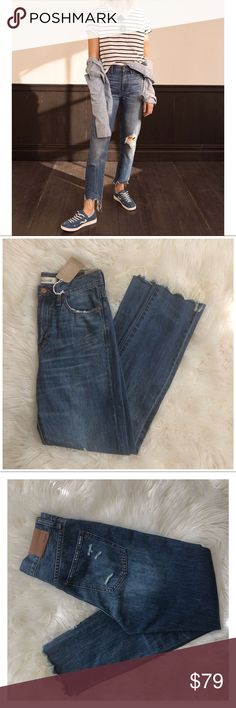 """ba1d040f5292 MADEWELL THE PERFECT SUMMER JEAN SIZE 25 ▫️Madewell the perfect summer jean  ▫️destructed detail ▫️size 25 ▫️new with tags ▫️100% cotton 13"""" across ..."""