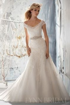 wedding dresses fit and flare lace - Google Search