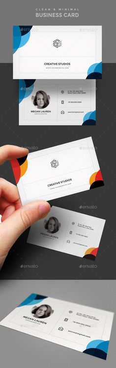 Simple Business Card Template - #Simple #Creative #Business #Card #Template #Design. Download here: https://graphicriver.net/item/business-card-template/19500294?ref=yinkira