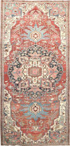 "Persian Heriz Serapi rug, 8' 6"" x 18' 7"", J.H. Minassian gallery"