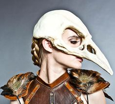Bird Skull Mask in Bone finish By High Noon Creations  For purchase by Vendor: https://www.etsy.com/uk/listing/153886331/bird-skull-mask-in-bone-finish
