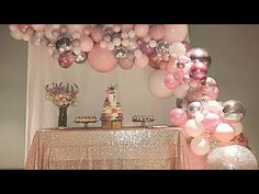 Pink, mauve, rose gold and silver balloon garland for a birthday. Stylish Soirees Perth Pink, mauve, rose gold and silver balloon garland for a birthday. Baby Shower Decorations, Wedding Decorations, 40th Birthday Decorations, Sweet 16 Party Decorations, Quinceanera Decorations, 21st Decorations, Pink And Gold Decorations, Garland Decoration, Quince Decorations