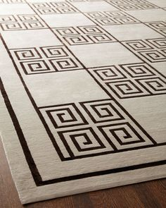 "home decor & interior design - ShopStyle: Horchow ""Greek Key"" Rug"