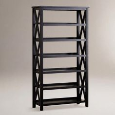 One of my favorite discoveries at WorldMarket.com: Antique Black Verona Six-Shelf Bookcase