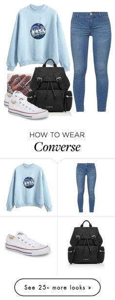 """Random#9876"" by cfull on Polyvore featuring Dorothy Perkins, Converse and Burberry"