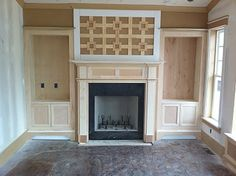 """""""Skeleton"""" before shot - fireplace with bookcases"""