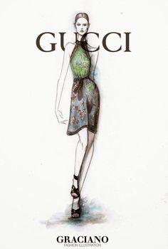 GRACIANO fashion illustration: GUCCI SPRING 2015 #MFW