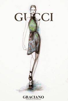 #GUCCI SPRING 2015 #MFW by #GRACIANO #fashionillustration | Raddest Men's Fashion Looks On The Internet: http://www.raddestlooks.org