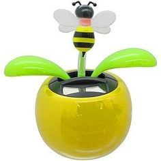 I have a solar dancing flower.now I NEED the bee! Dancing Toys, Dancing Figures, Solar Powered Toys, Spelling Bee, Bobble Head, Party Supplies, Flowers, Bumble Bees, Sugar Skulls