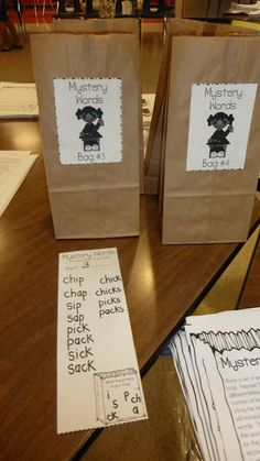 mystery words!  Put letters in the bag and challenge students to make words from them.